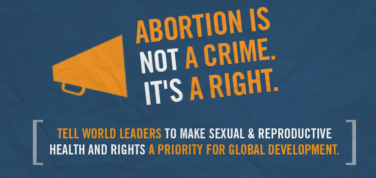 Abortion is not a crime. It's a right.